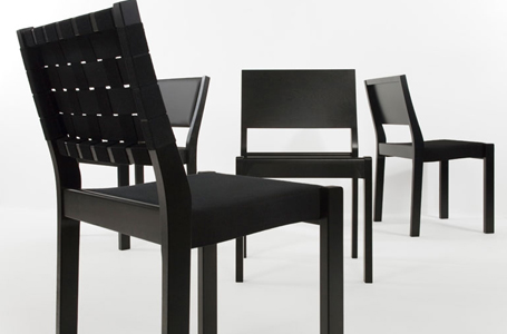 Wkworks model 611 chair designed by alvar aalto and for Sedia 611 artek